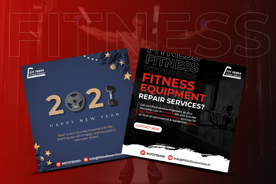 Fit India Fitness Services Social Media Designs
